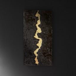 quadro materico foglia oro