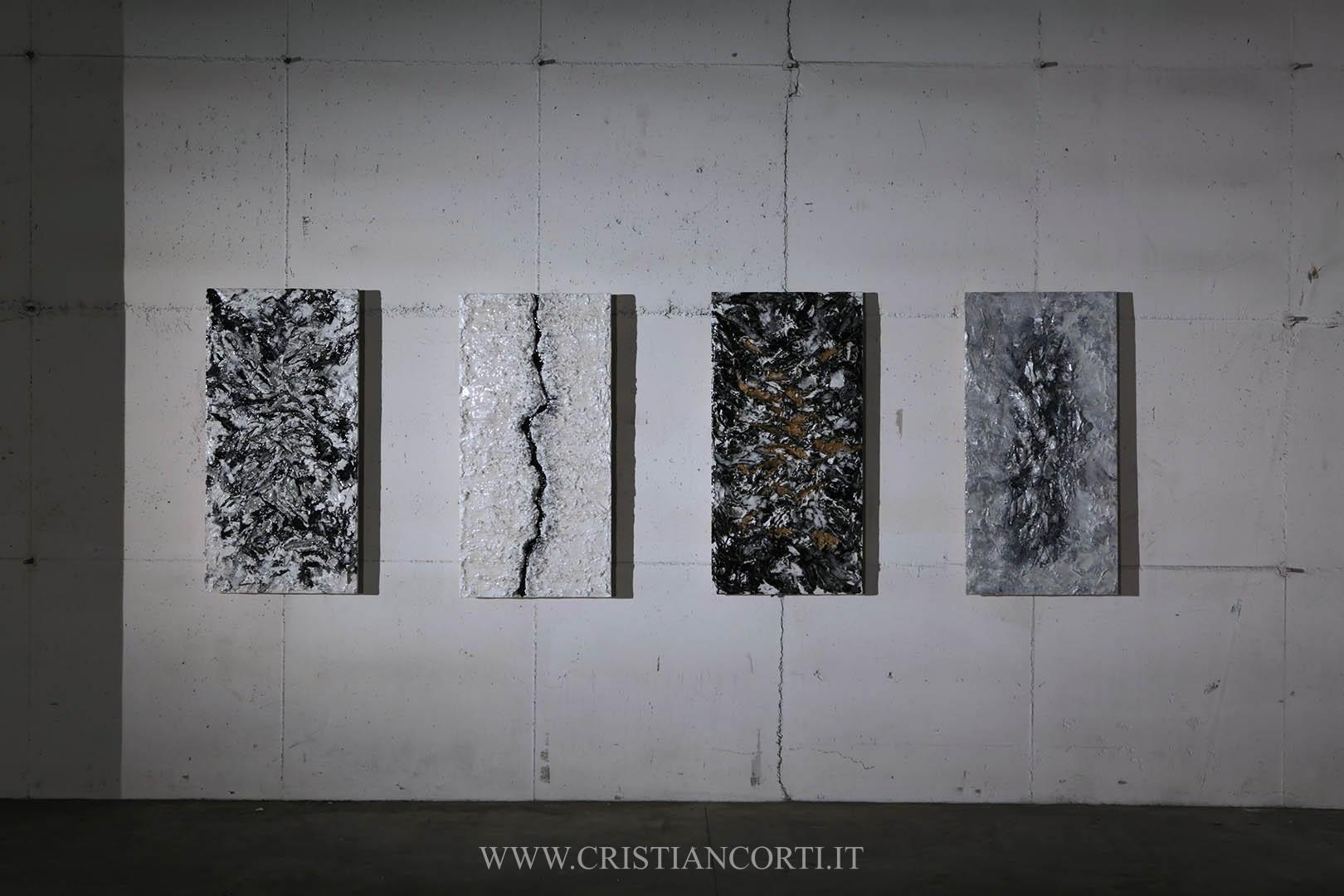 Quadri materici moderni e bassorilievi di design in rilievo by ...