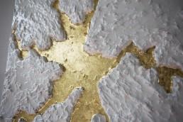 quadri design foglia oro